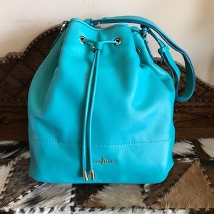 COLE HAAN LEATHER TURQUOISE BAG